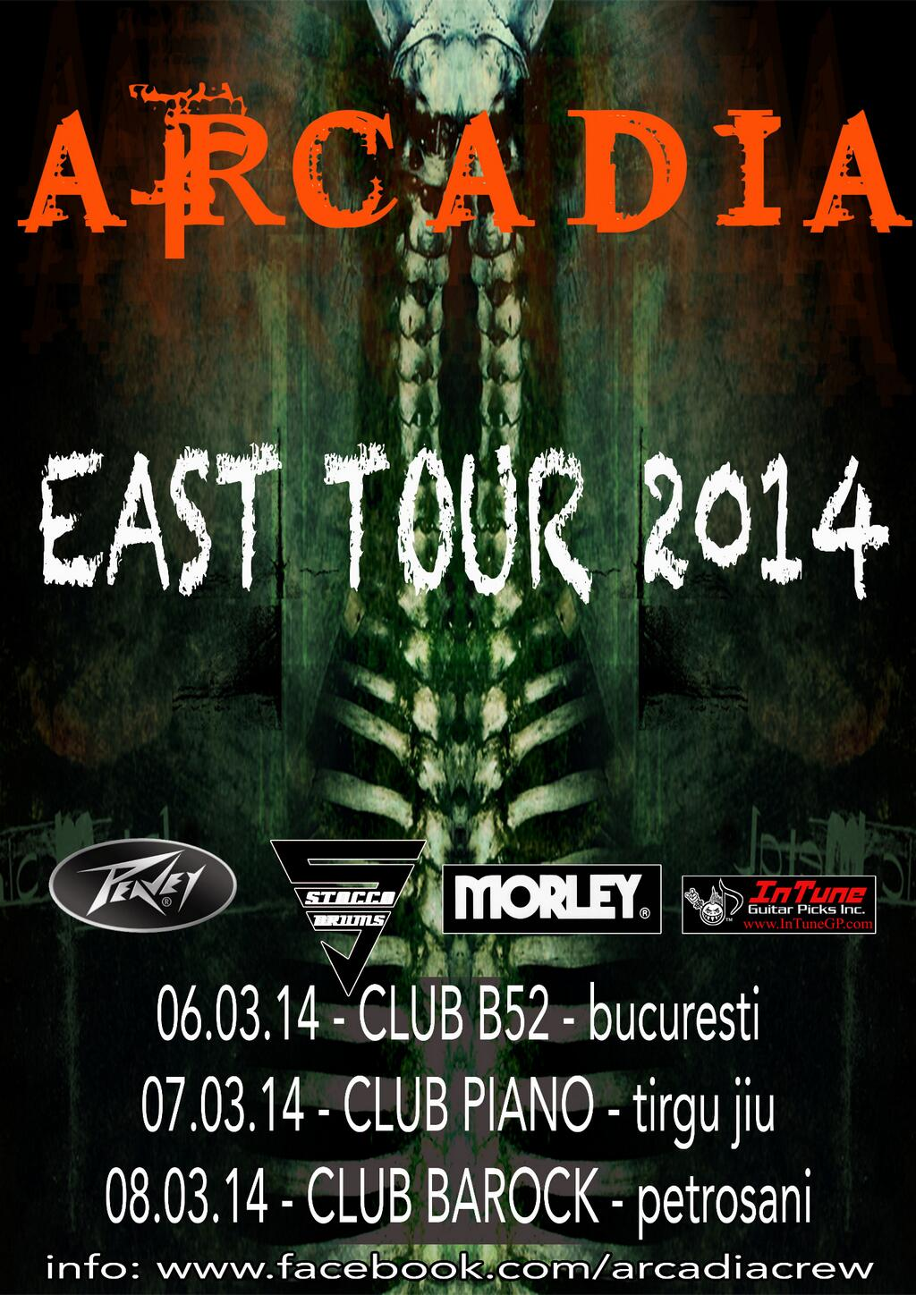 EAST TOUR: Mar 6/7/8, 2014