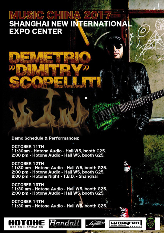 DEMETRIO 'DIMITRY' SCOPELLITI, Music China 2017, Shangai October 11-14, 2017