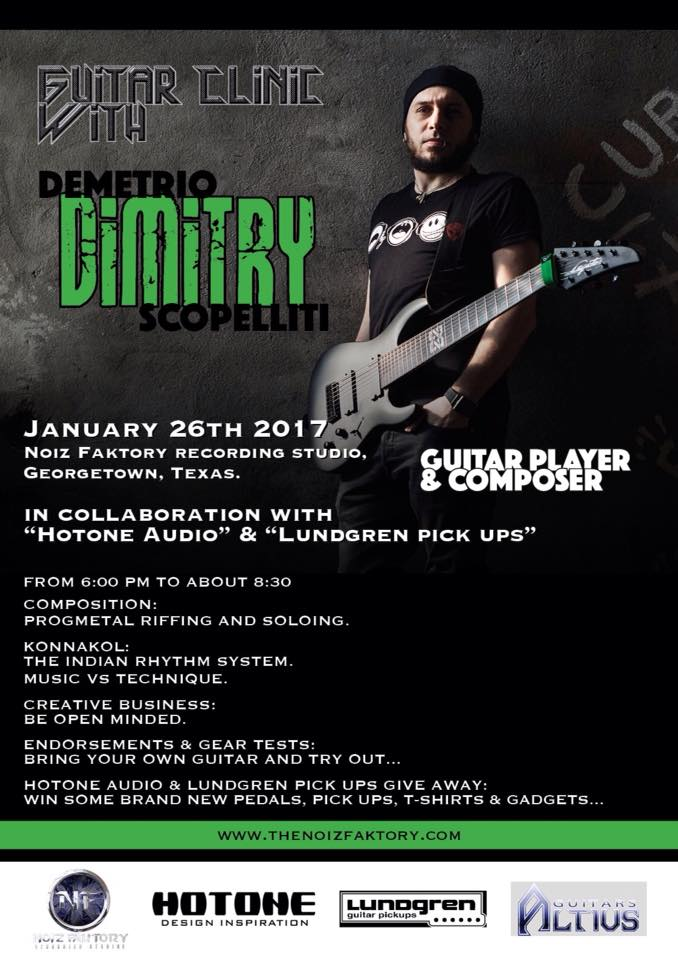 Demetrio «Dimitry» Scopelliti: January 2017, Guitar Clinic, Georgetown Texas USA