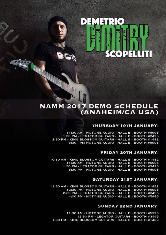 Demetrio «Dimitry» Scopelliti: January 2017 - The Namm Show, Anaheim California USA
