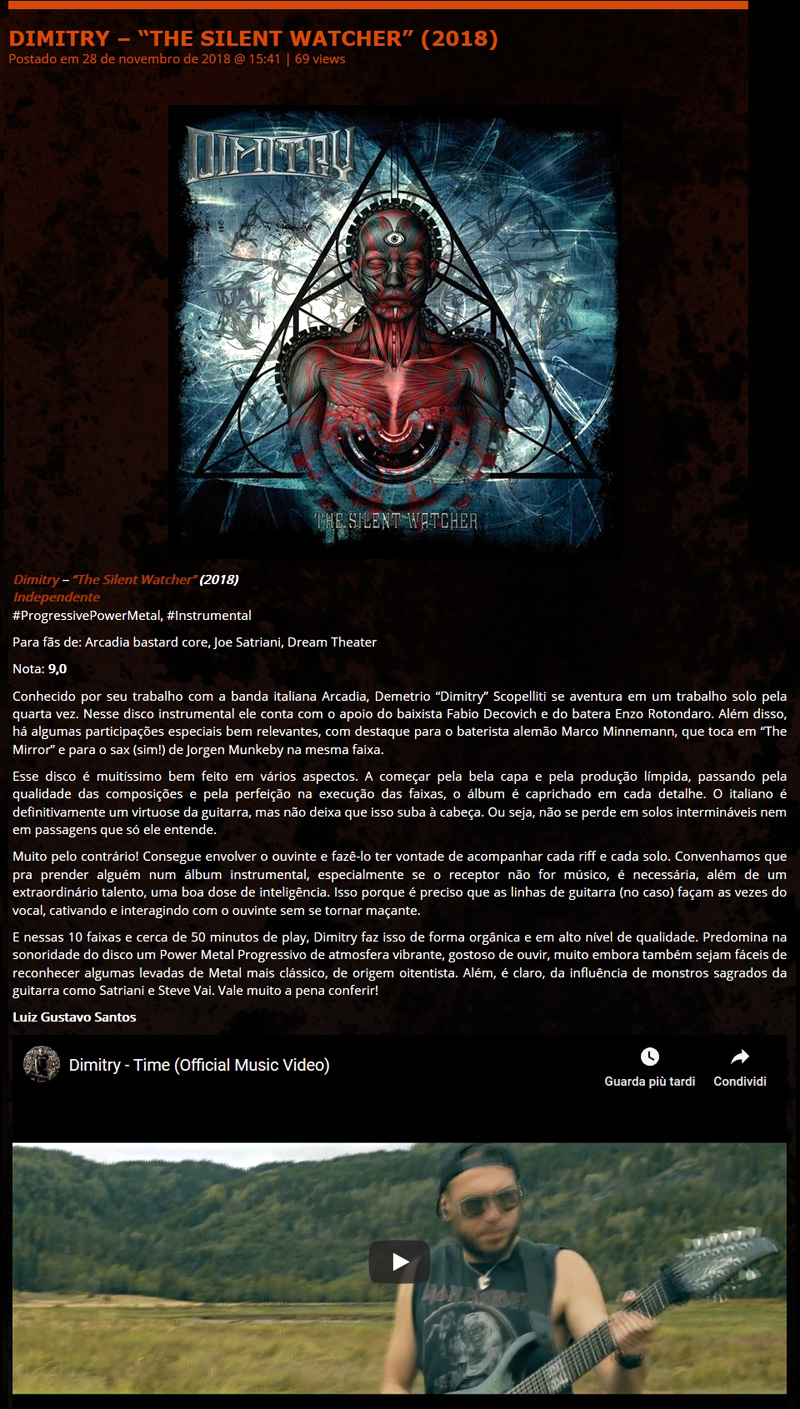 METAL NA LATA, Brasil - The Silent Watcher Review